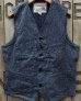 "画像2: Sugar Cane ""9oz. BLACK COVERT WORK VEST""  (2)"