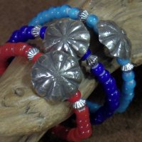 BARNS×BUTTON WORKS -DIME COIN BEADS BRACELET-