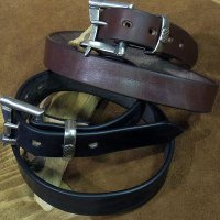 "BARNS -""FIREMAN BUCKLE"" LEATHER BELT-"