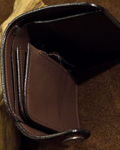 画像4: KC,s -BILLFOLD SHELBY HORSEHIDE 5¢ concho- BROWN