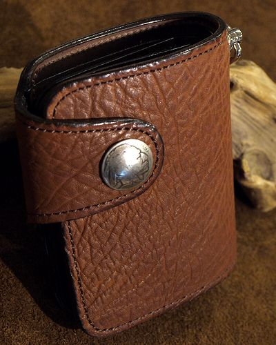 画像5: KC,s -BILLFOLD SHELBY HORSEHIDE 5¢ concho- BROWN