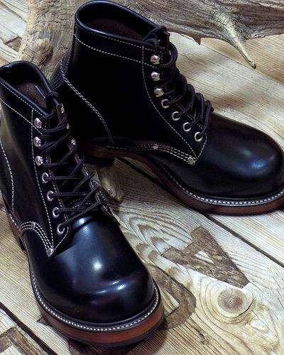 "画像1: TOYS McCOY -WORK BOOTS ""SURVEYOR""- GLASS LEATHER"