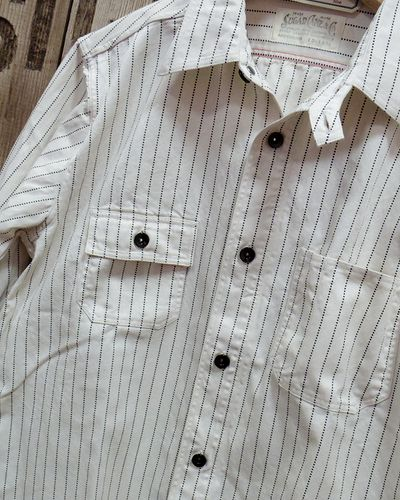 "画像3: Sugar Cane ""8.5oz. WHITE WABASH STRIPE WORK SHIRT"""