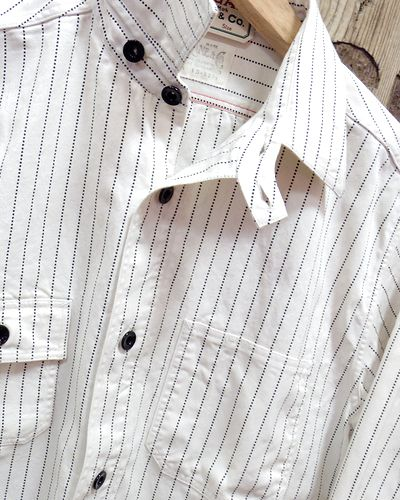 "画像2: Sugar Cane ""8.5oz. WHITE WABASH STRIPE WORK SHIRT"""