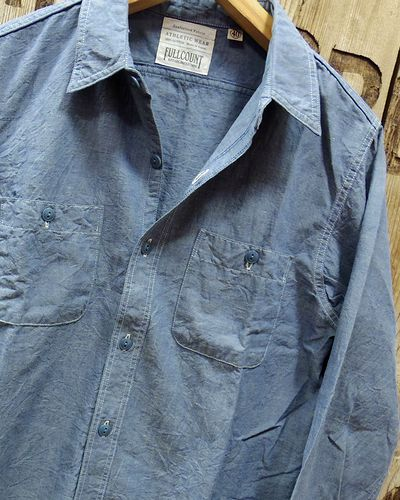 "画像3: FULLCOUNT ""BASIC CHAMBRAY SHIRTS"" 4810-15"