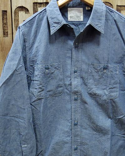 "画像2: FULLCOUNT ""BASIC CHAMBRAY SHIRTS"" 4810-15"