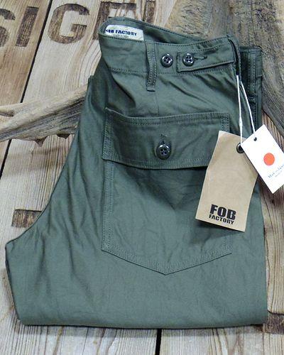 画像2: FOB FACTORY -BAKER PANTS- F0431