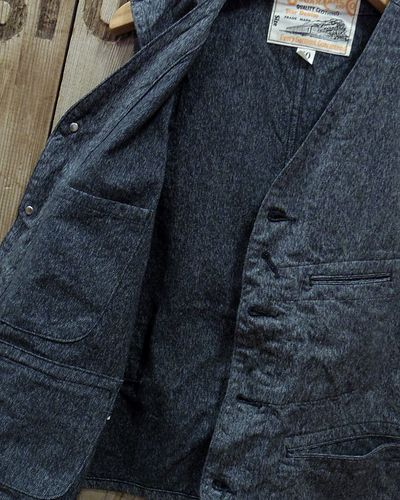 "画像4: Sugar Cane ""9oz. BLACK COVERT WORK VEST"""