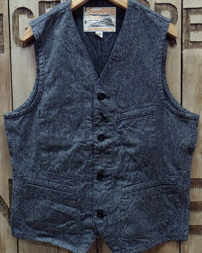 "画像2: Sugar Cane ""9oz. BLACK COVERT WORK VEST"""