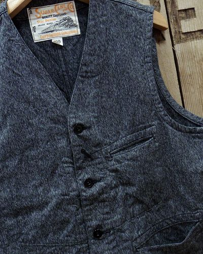"画像3: Sugar Cane ""9oz. BLACK COVERT WORK VEST"""