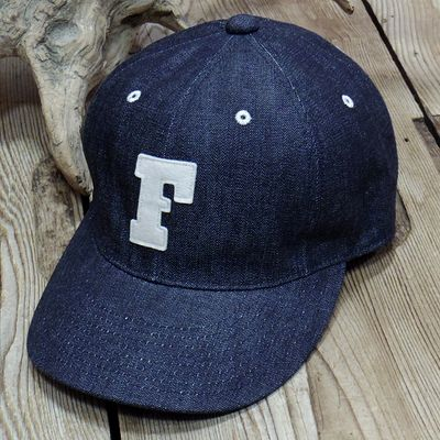 "画像1: FULLCOUNT ""6PANEL DENIM BASEBALL CAP"""