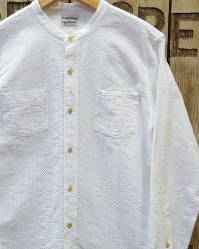 "画像1: Pherrow's ""17S-791WS"" BAND COLLAR SHIRT"