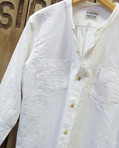"画像3: Pherrow's ""17S-791WS"" BAND COLLAR SHIRT"