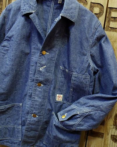 画像4: FULLCOUNT -SELVEDGE HEAVY CHAMBRAY COVERALL-