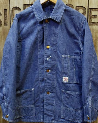画像2: FULLCOUNT -SELVEDGE HEAVY CHAMBRAY COVERALL-