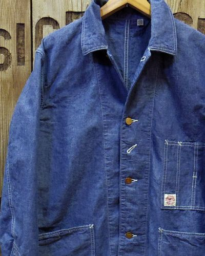 画像1: FULLCOUNT -SELVEDGE HEAVY CHAMBRAY COVERALL-