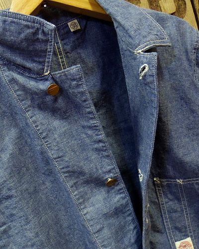 画像3: FULLCOUNT -SELVEDGE HEAVY CHAMBRAY COVERALL-