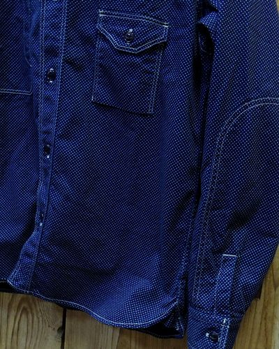 画像4: FULLCOUNT -CIGARETTE POCKET WORK SHIRT (INDIGO WABASH)-