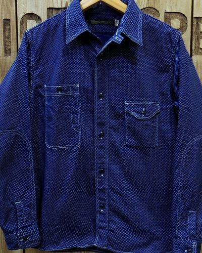 画像2: FULLCOUNT -CIGARETTE POCKET WORK SHIRT (INDIGO WABASH)-