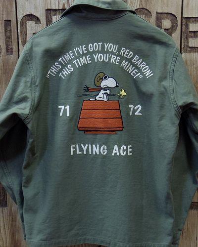 """画像5: TOYS McCOY -UTILITY SHIRT PEANUTS """"FLYING ACE""""-"""