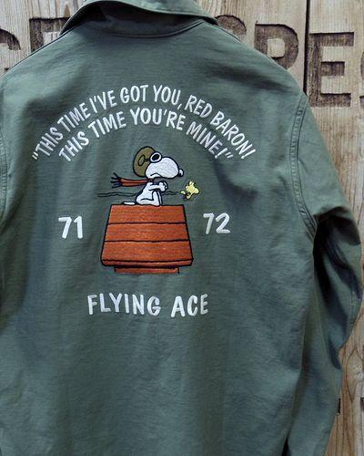 """画像4: TOYS McCOY -UTILITY SHIRT PEANUTS """"FLYING ACE""""-"""