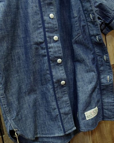 "画像4: Pherrow's ""17S-PBBS1"" Chambray BaseBall Shirt"