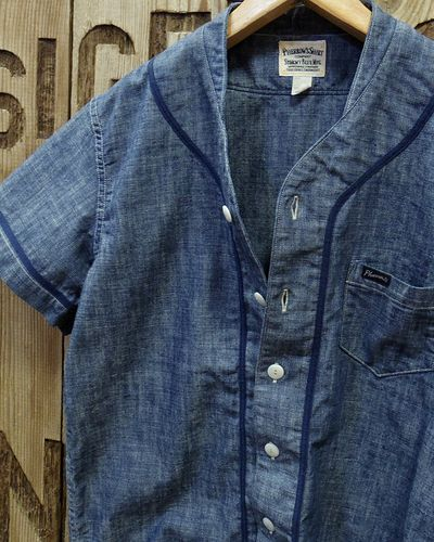 "画像3: Pherrow's ""17S-PBBS1"" Chambray BaseBall Shirt"