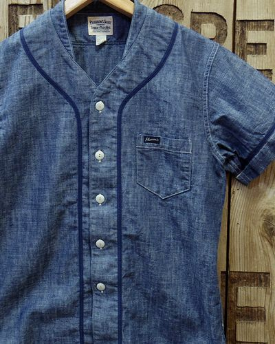 "画像1: Pherrow's ""17S-PBBS1"" Chambray BaseBall Shirt"