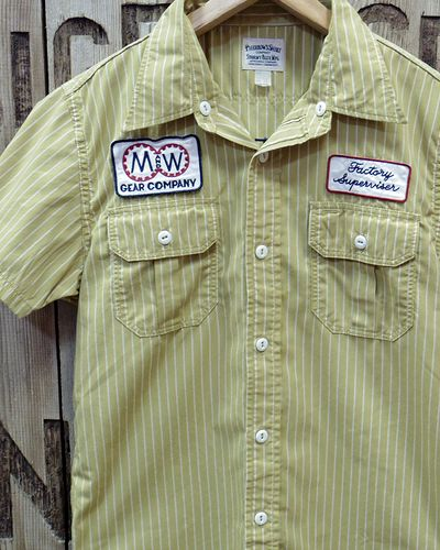 "画像1: Pherrow's ""17S-PWBD1-S"" S/S Work Shirt"