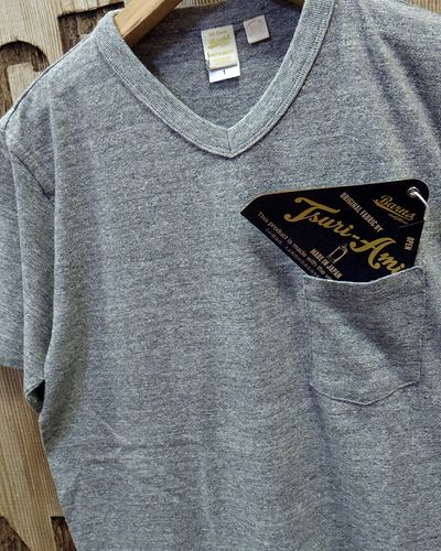 "画像3: BARNS -""Tsuri-Ami"" V-NECK T-SHIRT- BR-1101"