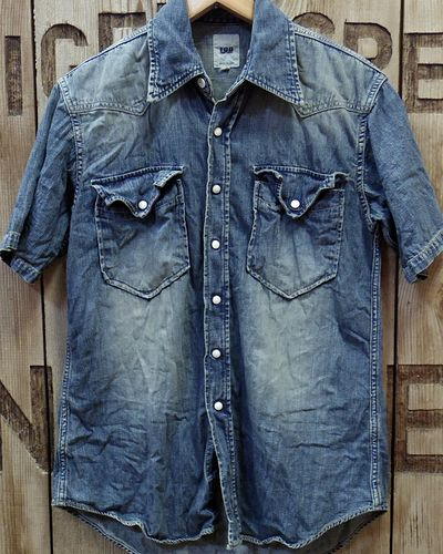 画像2: FOB FACTORY -8oz. DENIM S/S WESTERN SHIRT-
