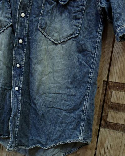 画像4: FOB FACTORY -8oz. DENIM S/S WESTERN SHIRT-