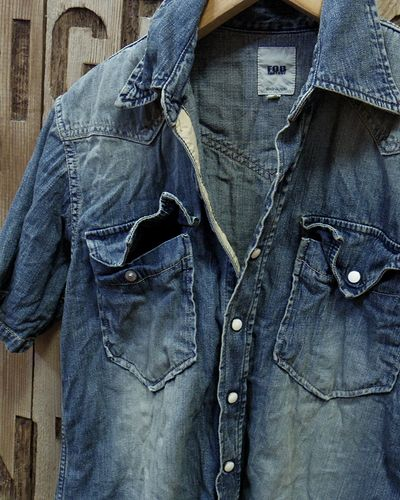 画像3: FOB FACTORY -8oz. DENIM S/S WESTERN SHIRT-