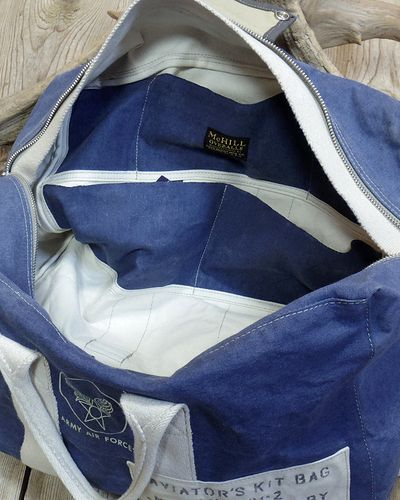 "画像4: TOYS McCOY -AVIATOR'S KIT BAG BLUE ""U.S.A.A.F.""-"