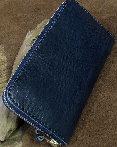 "画像1: BARNS -""LE-4090"" ROUND ZIPPER WALLET-"