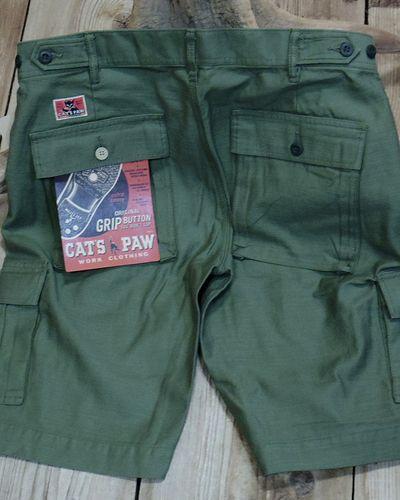 画像4: CAT'S PAW -BACK SATEEN CARGO SHORT PANTS-