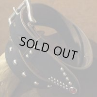 """Opus """"Jeweled & Studded US Oil Leather Belt"""""""