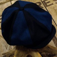 "ADJUSTABLE COSTUME ""Special 2-tone Felt 20's Style Casquette"" NAVY×D.BLUE"