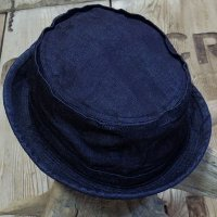 Sugar Cane -10oz. INDIGO DENIM PORKPIE HAT-