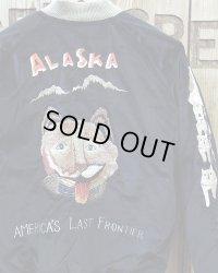 "TAILOR TOYO -VELVETEEN SOUVENIR JACKET ""Alaskan Husky""×""Alaska Map""-"