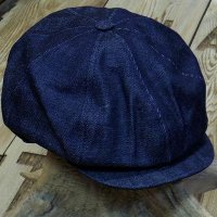 "ADJUSTABLE COSTUME ""20's STYLE CASQUETTE"" INDIGO DENIM"