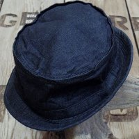 Sugar Cane -10oz. BLACK DENIM PORKPIE HAT-
