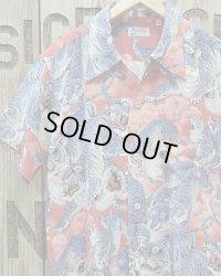 "SUN SURF -""One Hundred Tigers"" KALAKAUA- Hawaiian Shirts"