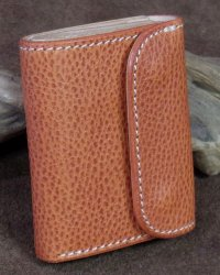 "Opus -""MINI WALLET"" Embossed BUTTERO Leather-"