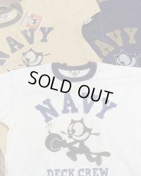 "TOYS McCOY -MILITARY TEE SHIRT ""NAVY DECK CREW""-"