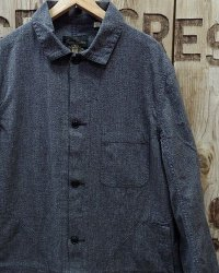 FULLCOUNT -COVERT BLACK CHAMBRAY ATELIER COAT-