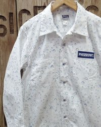 "Pherrow's ""20S-PWDS"" L/S Open Collar Shirt"