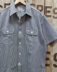 Sugar Cane -HICKORY STRIPE S/S WORK SHIRT-