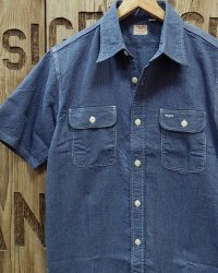 Sugar Cane -JEAN CORD S/S WORK SHIRT-