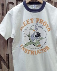 "TOYS McCOY -MILITARY TEE SHIRT ""FLEET PHOTO INSTRUCTOR""-"